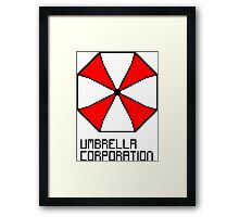 Umbrella Corporation pixel logo Framed Print