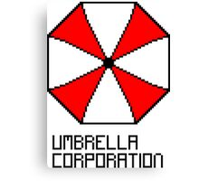 Umbrella Corporation pixel logo Canvas Print
