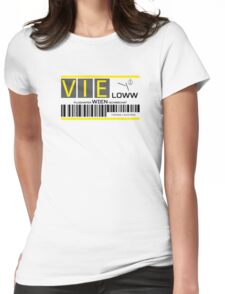 Destination Vienna Airport Womens Fitted T-Shirt