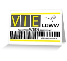Destination Vienna Airport Greeting Card