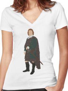 Jamie Fraser II - Outlander Women's Fitted V-Neck T-Shirt