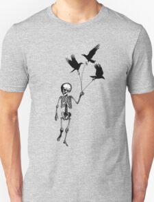 Child Skeleton walking pet crows Unisex T-Shirt