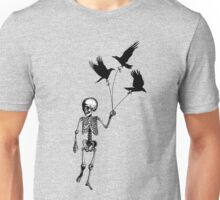 Child Skeleton walking pet crows Unisex T-Shirt