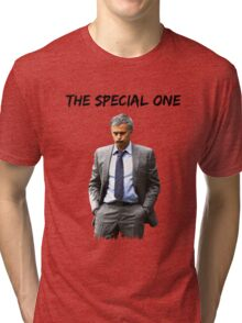 Jose Mourinho The Special one  (Red T-shirt, Phone Case & more) Tri-blend T-Shirt