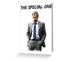 Jose Mourinho The Special one  (Red T-shirt, Phone Case & more) Greeting Card