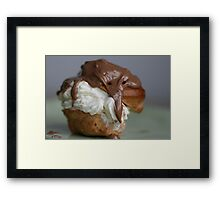 Cream PUFFS Framed Print