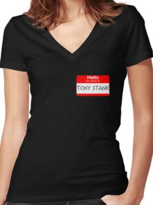 Are you Tony Stank? Women's Fitted V-Neck T-Shirt