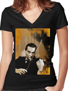 mr sherlock holmes Women's Fitted V-Neck T-Shirt