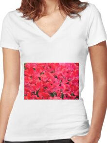 Fields of Fire Women's Fitted V-Neck T-Shirt