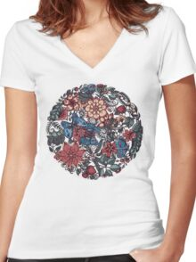 Circle of Friends in Colour Women's Fitted V-Neck T-Shirt