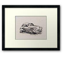 Car painted in oil Framed Print
