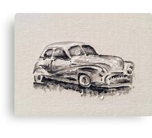Car painted in oil Canvas Print