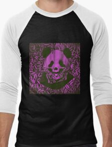 Purple Gangsta Panda Men's Baseball ¾ T-Shirt