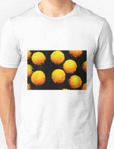 yellow globes on black Unisex T-Shirt