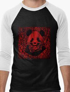 Red Gangsta Panda Men's Baseball ¾ T-Shirt