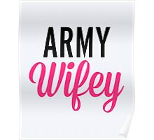 Army Wifey Quote Poster