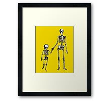 Skeleton family walk Framed Print
