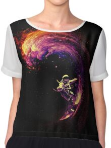 Space Surfing Chiffon Top