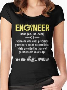 ENGINEER Shirt - Funny Engineer Definition - Trust Me I'm An Engineer  Women's Fitted Scoop T-Shirt