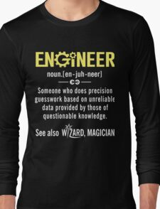 ENGINEER Shirt - Funny Engineer Definition - Trust Me I'm An Engineer  Long Sleeve T-Shirt