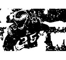 LeSean McCoy black and white Photographic Print