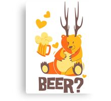 Beer? Canvas Print