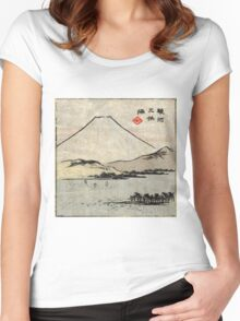 Miho Bay In Suruga - Hiroshige Ando - c1855 - woodcut Women's Fitted Scoop T-Shirt