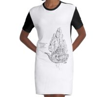 "Sail Doodle ""sail, not drift!"" Graphic T-Shirt Dress"