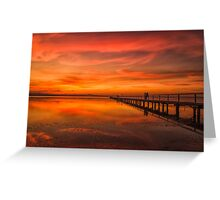 Long Jetty Sunset Greeting Card