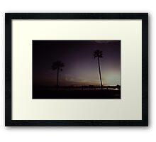 Purple Dusk Framed Print