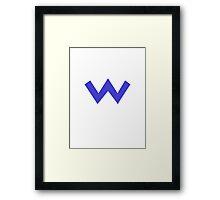 Wario Symbol Framed Print