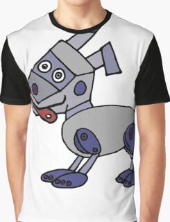 Funny Cool Robot Dog Graphic T-Shirt