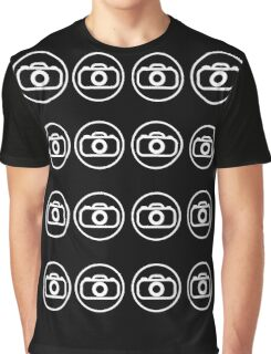 Camera icons white Graphic T-Shirt