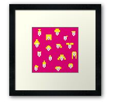 Blond and pink Framed Print
