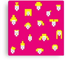Blond and pink Canvas Print