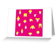 Blond and pink Greeting Card