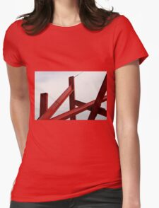 Red Metal Womens Fitted T-Shirt