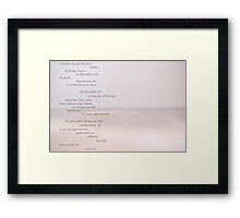 Sea scapes Framed Print