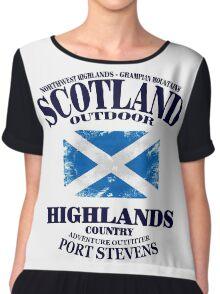 Scotland - Highlands Chiffon Top
