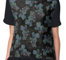 Traditional flower illustration seamless pattern. Eastern style traditional design Chiffon Top