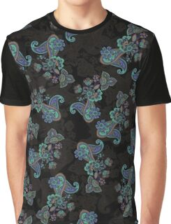 Traditional flower illustration seamless pattern. Eastern style traditional design Graphic T-Shirt