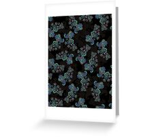 Traditional flower illustration seamless pattern. Eastern style traditional design Greeting Card