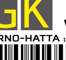 Destination Jakarta Airport Sticker