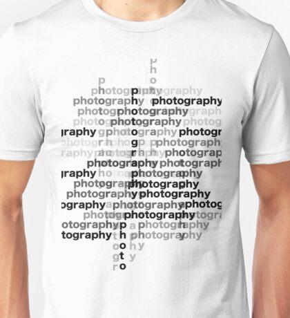 Photography text_03 Unisex T-Shirt