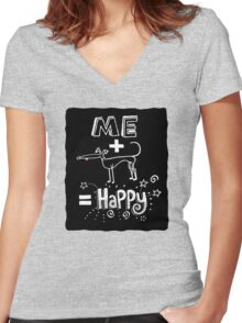 The Happiness Equation Women's Fitted V-Neck T-Shirt