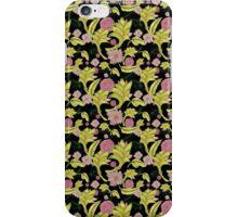 Flowers in black iPhone Case/Skin