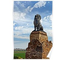 Lion on Grotto Hill Poster