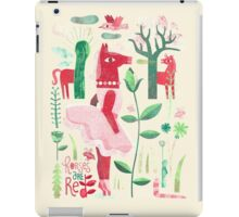 Horses are red iPad Case/Skin