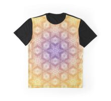 Gradient Stars Pattern Graphic T-Shirt