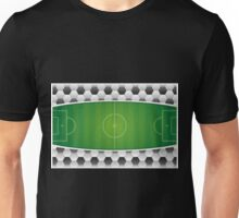Geometric Sports Lover Soccer Stadium Unisex T-Shirt